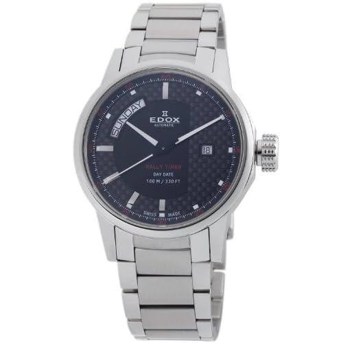 [エドックス] EDOX 腕時計 Men's WRC Automatic Rally Timer Watch スイス製自動巻 83009 3 NIN メンズ [TimeKingバンド調節工具& HARP高級セーム革セット]【並行輸入品】