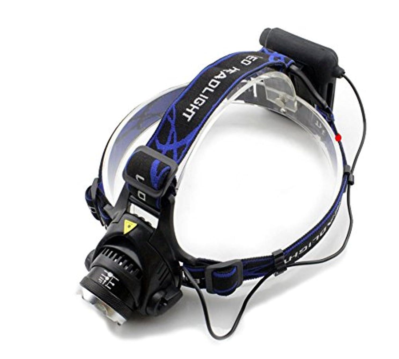 退屈リンス巨大Genwiss 5000Lm防水CREE XML T6ズームLEDヘッドライトヘッドライトヘッドランプライトズーム可能なのキャンプバイクワーキング狩猟釣り乗馬ウォーキング用のフォーカスを調整します