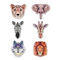 Putars 冷蔵庫用マグネット冷蔵庫用マグネット3Dアフリカ動物(6個) - 冷蔵庫用マグネット動物用マグネットキッチンロッカーに最適