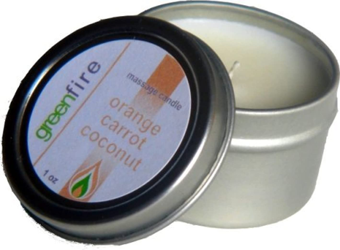 キャベツスロット計算グリーンファイヤーマッサージキャンドル/3パック入り オレンジ?キャロット?ココナッツの香り(サイズ:29.6mL、59.1mL、118.3mL)