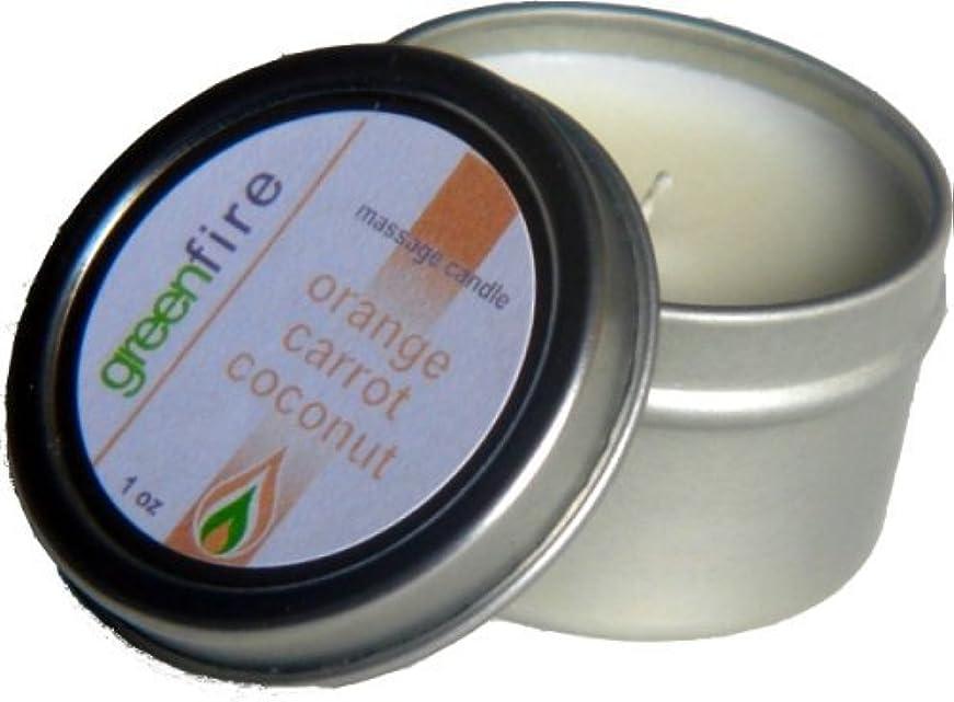 砂利汚れたテクニカルグリーンファイヤーマッサージキャンドル/3パック入り オレンジ?キャロット?ココナッツの香り(サイズ:29.6mL、59.1mL、118.3mL)