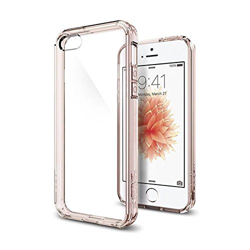 【Spigen】 iPhone SE ケース, ウルトラ・ハイブリッド [ 米軍MIL規格取得 落下 衝撃吸収 ] [ クリア バン...