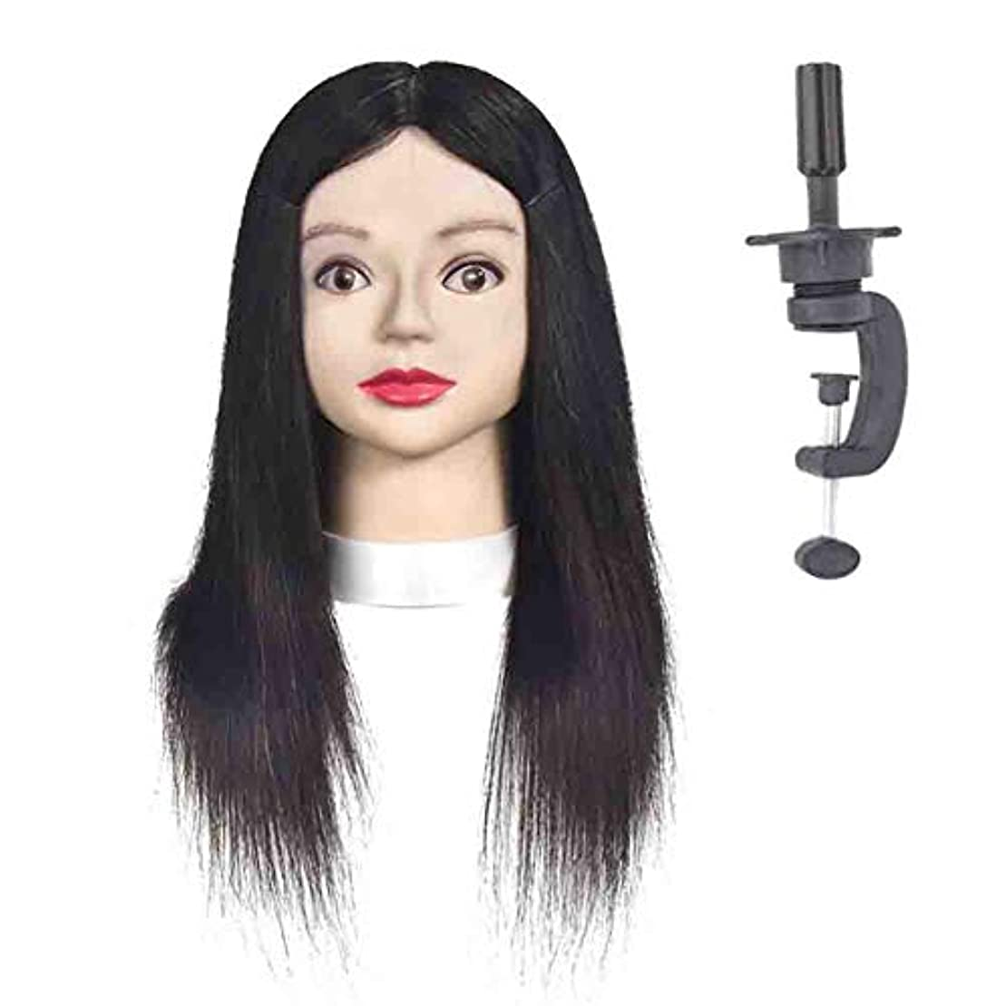 望む副苛性リアルヘアシルク編組ヘアスタイリングヘッドモデル理髪店理髪ダミーヘッドメイクアップ練習マネキンヘッド