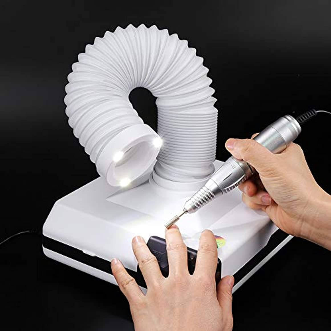 販売計画壁貞60W 3LED付き 2wayネイルダストコレクター ネイル吸引集塵機 ネイル掃除機 ネイルアート用品