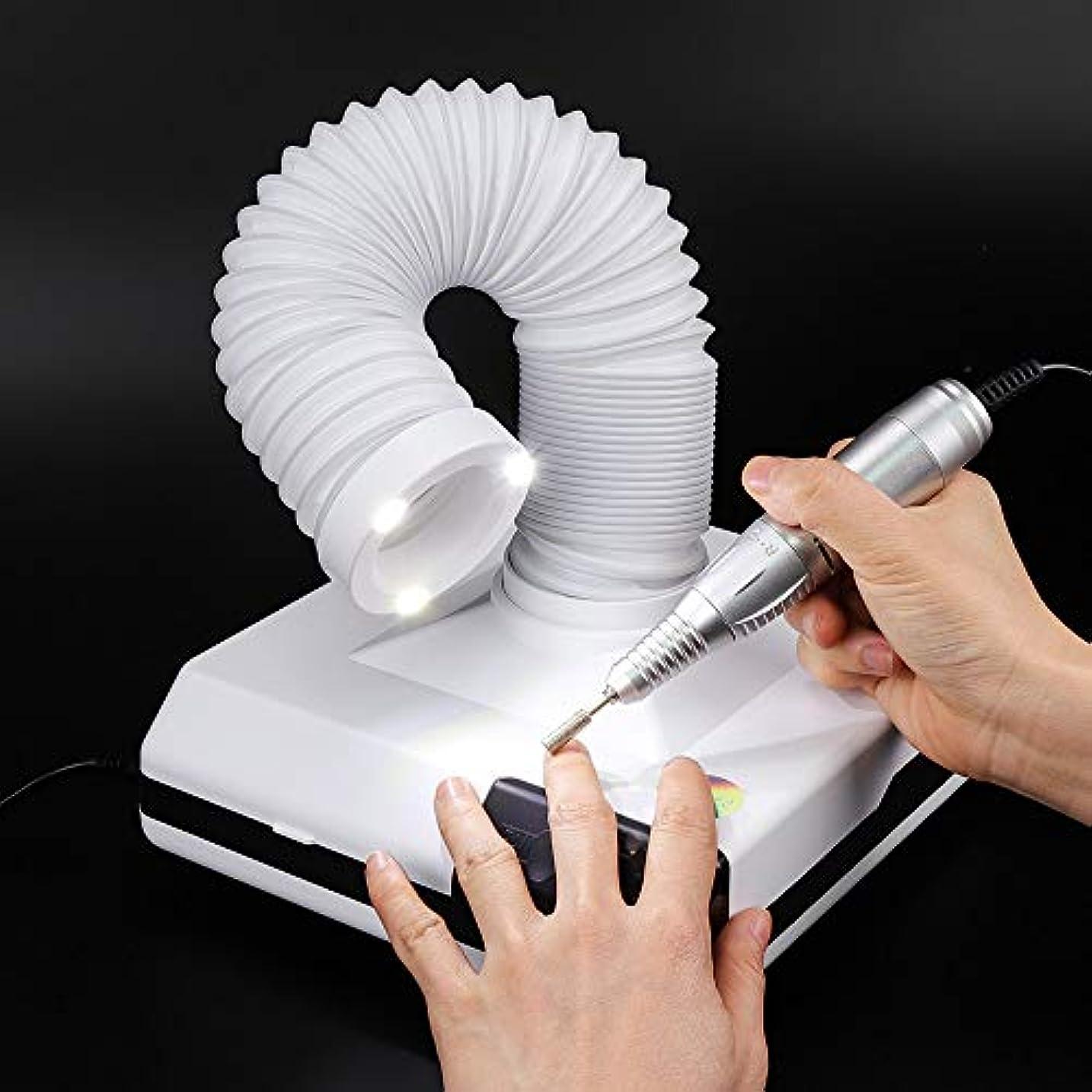 60W 3LED付き 2wayネイルダストコレクター ネイル吸引集塵機 ネイル掃除機 ネイルアート用品