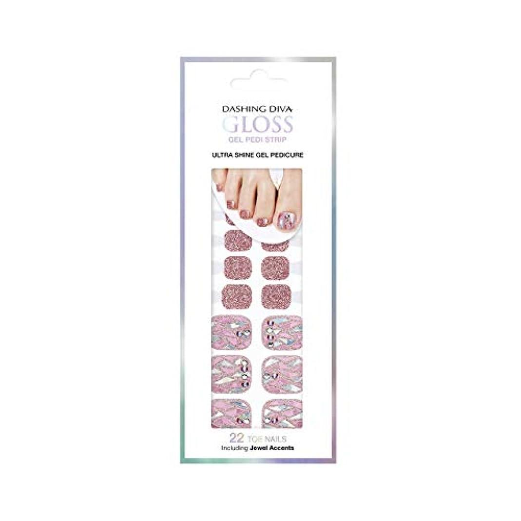 グロー歯科医メールダッシングディバ グロスジェル ペディストリップ DASHING DIVA Gloss Gel Pedi Strip GPS21-DURY+ オリジナルジェル ネイルシール