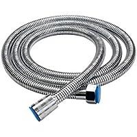 Batreetek シャワーホース1.5M 蛇腹ステンレス 軽くて柔軟性国際汎用基準G1/2取付簡単 軽量 耐久性風呂シャワーシャワーホース交換