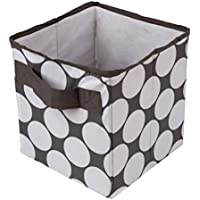 Bacati Dots Storage Tote Basket, Grey, Small by Bacati