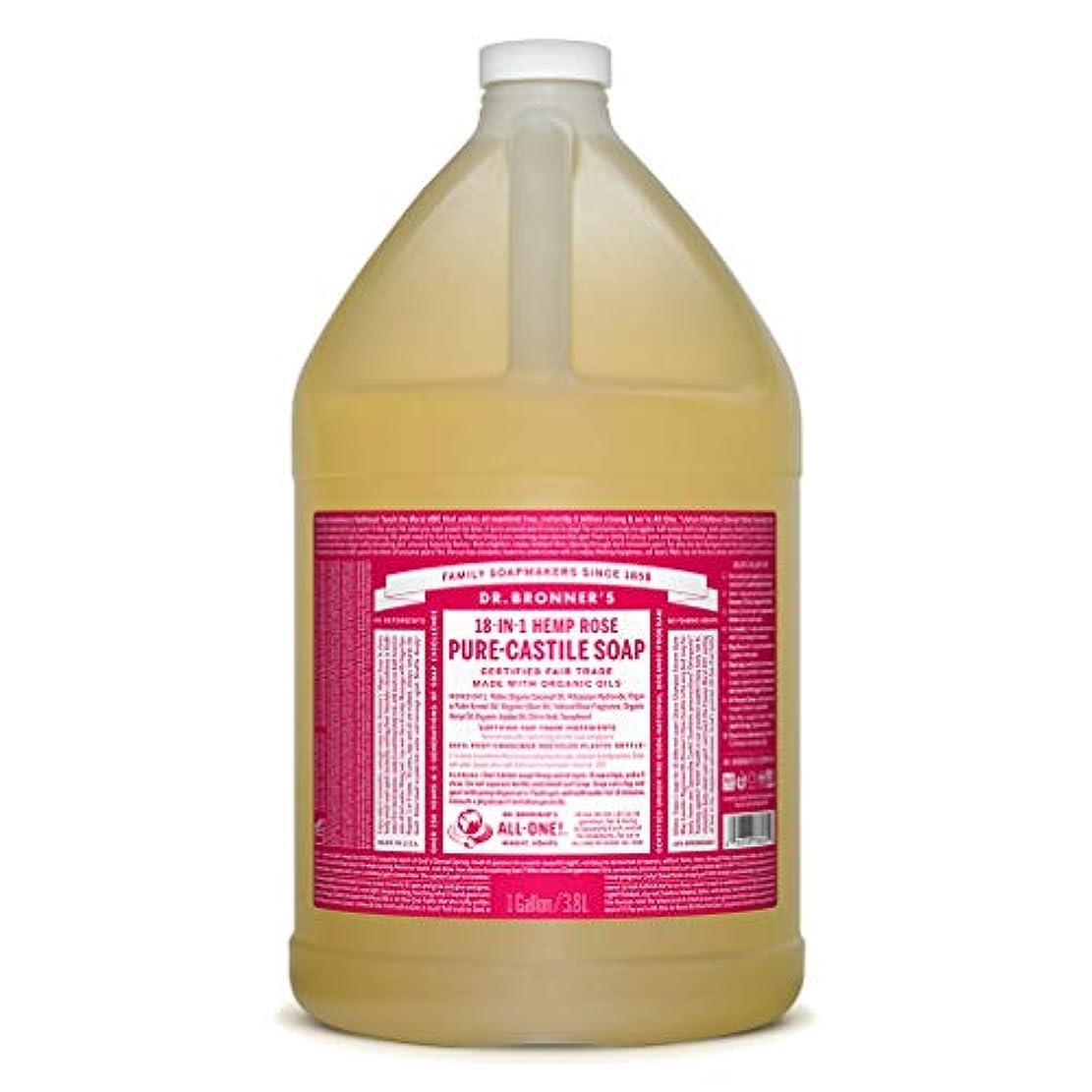 ごみ小康正午ドクターブロナー マジックソープ液体 ローズ 3785ml