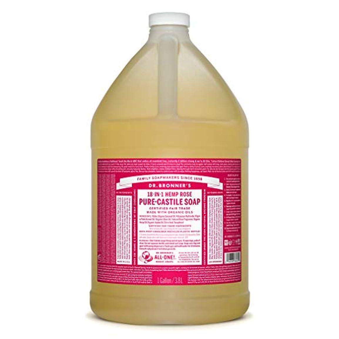 ドクターブロナー マジックソープ液体 ローズ 3785ml