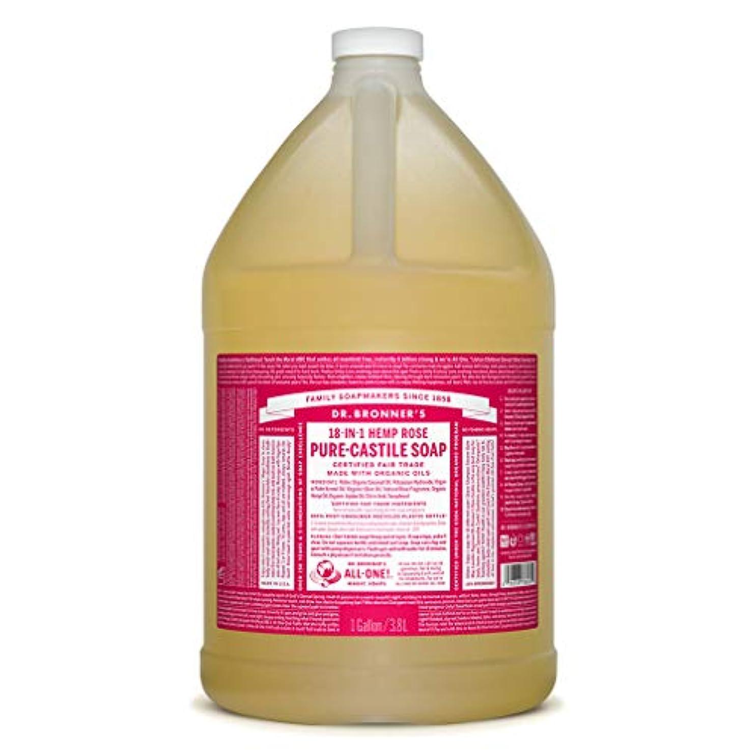 更新する石油編集するドクターブロナー マジックソープ液体 ローズ 3785ml