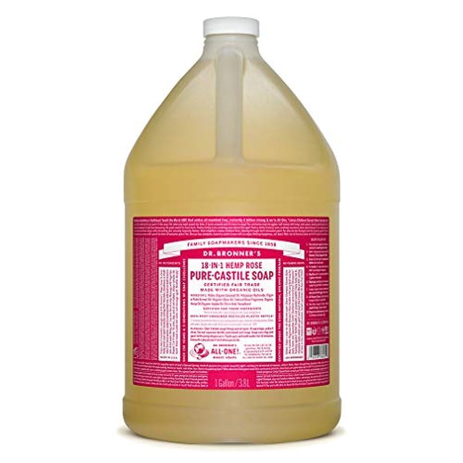 短命規定。ドクターブロナー マジックソープ液体 ローズ 3785ml