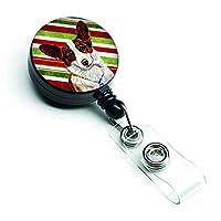 Caroline's Treasures Corgi Candy Cane Holiday Christmas Retractable Badge Reel Multicolor (LH9243BR) [並行輸入品]