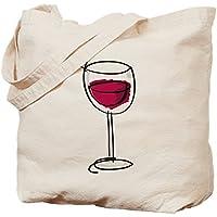 CafePress–ガラスのワイン–ナチュラルキャンバストートバッグ、布ショッピングバッグ