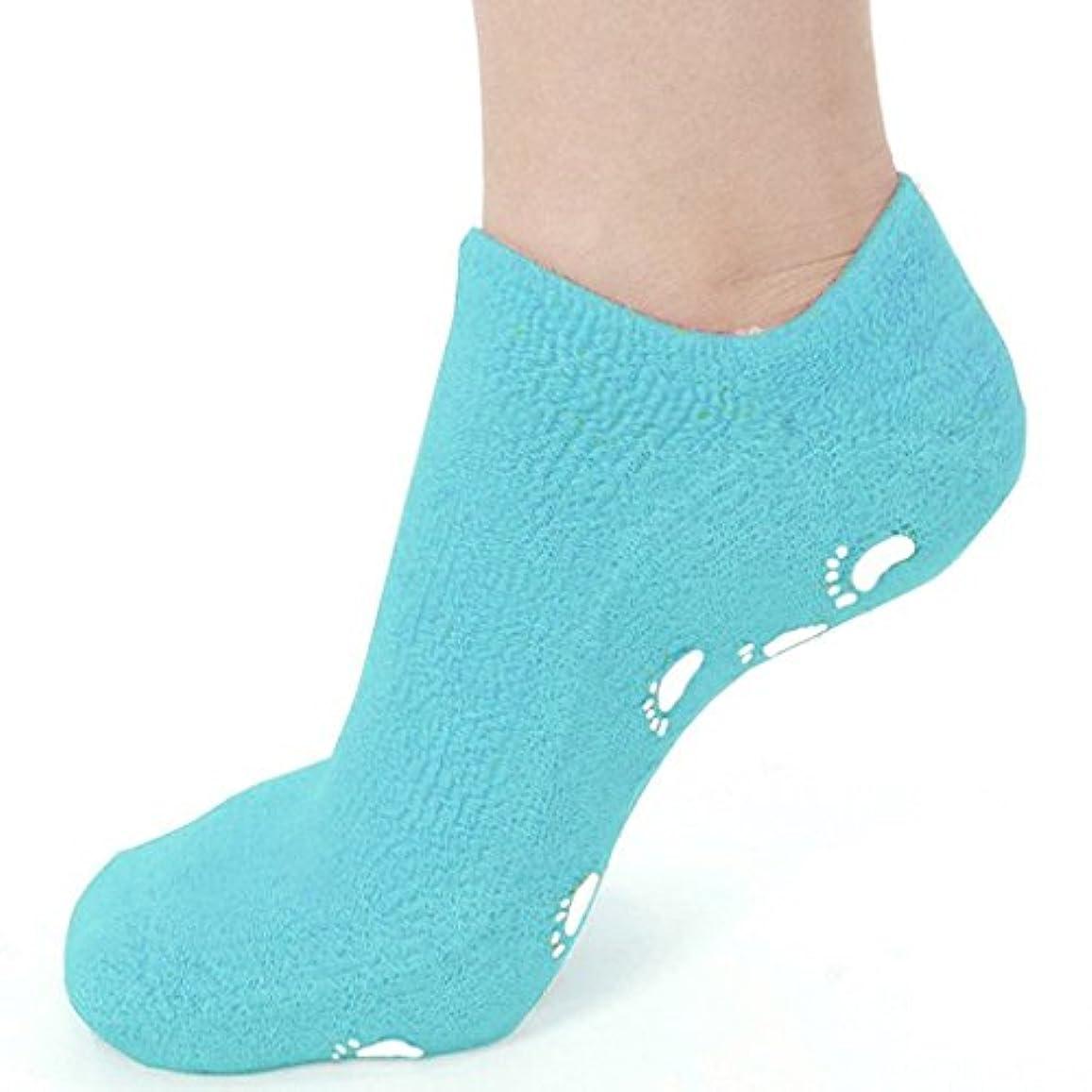 シルク全体のれん靴下 ソックス ジェル 素肌 足元 つま先 かかと 潤い 眠れる森のぷるジェル
