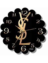Yves Saint Laurent 11'' 壁時計(イヴサンローラン)あなたの友人のための最高の贈り物。逆にしているメカニズム。あなたの家のためのオリジナルデザイン
