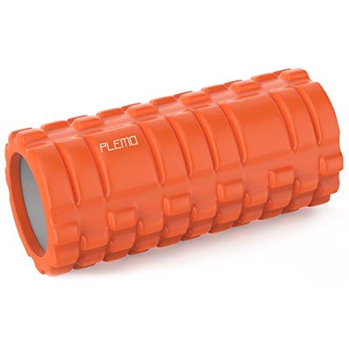 PLEMO フォームローラー Foam Roller 3種類の凸凹マッサージ ヨガポール ストレッチローラー 筋膜リリース マッサージ トリガーポイント オレンジ FE-002