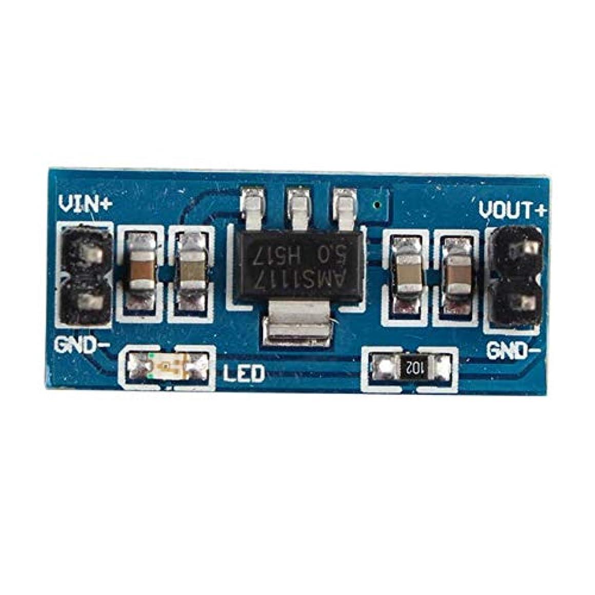 弁護士その他節約する6V-12VアウトAMS1117-5降圧リニア電圧レギュレータパワーコンバータモジュール