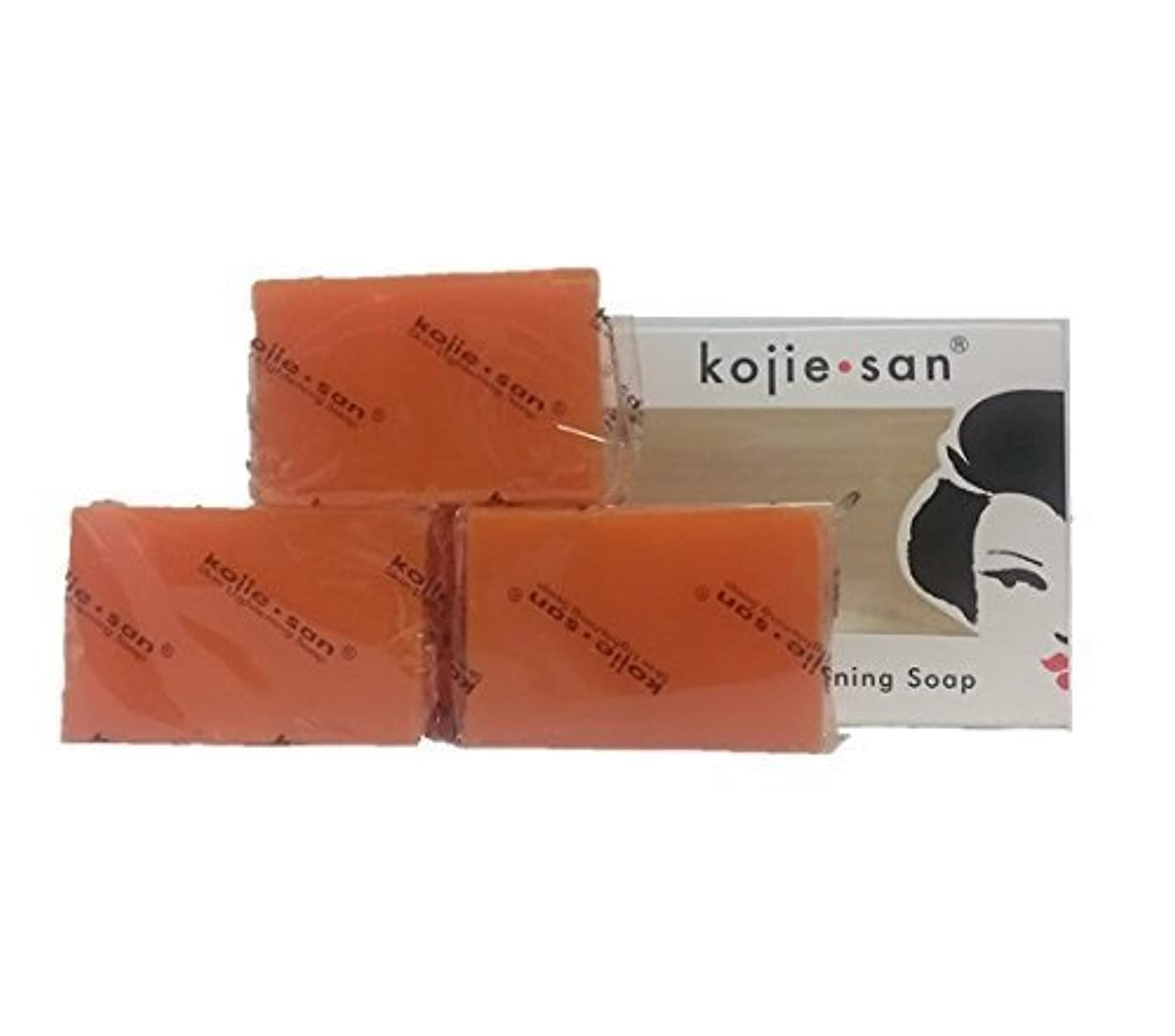 谷幻滅関数Kojie san Skin Lightning Soap 3 pcs こじえさんスキンライトニングソープ3個パック [並行輸入品]