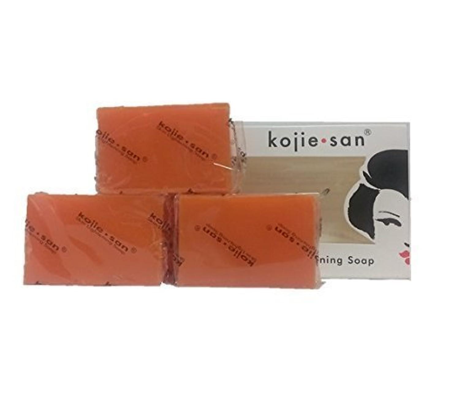 文字通り負荷透過性Kojie san Skin Lightning Soap 3 pcs こじえさんスキンライトニングソープ3個パック [並行輸入品]