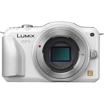 Panasonic ミラーレス一眼カメラ ルミックス GF5 ボディ 1210万画素 シェルホワイト DMC-GF5-W