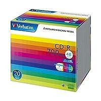 三菱ケミカルメディア/CD-R / 700MB / PCデータ用 / 48倍速対応 / 20枚スリムケース入り / ワイド印刷可能 / SR80SP20V1