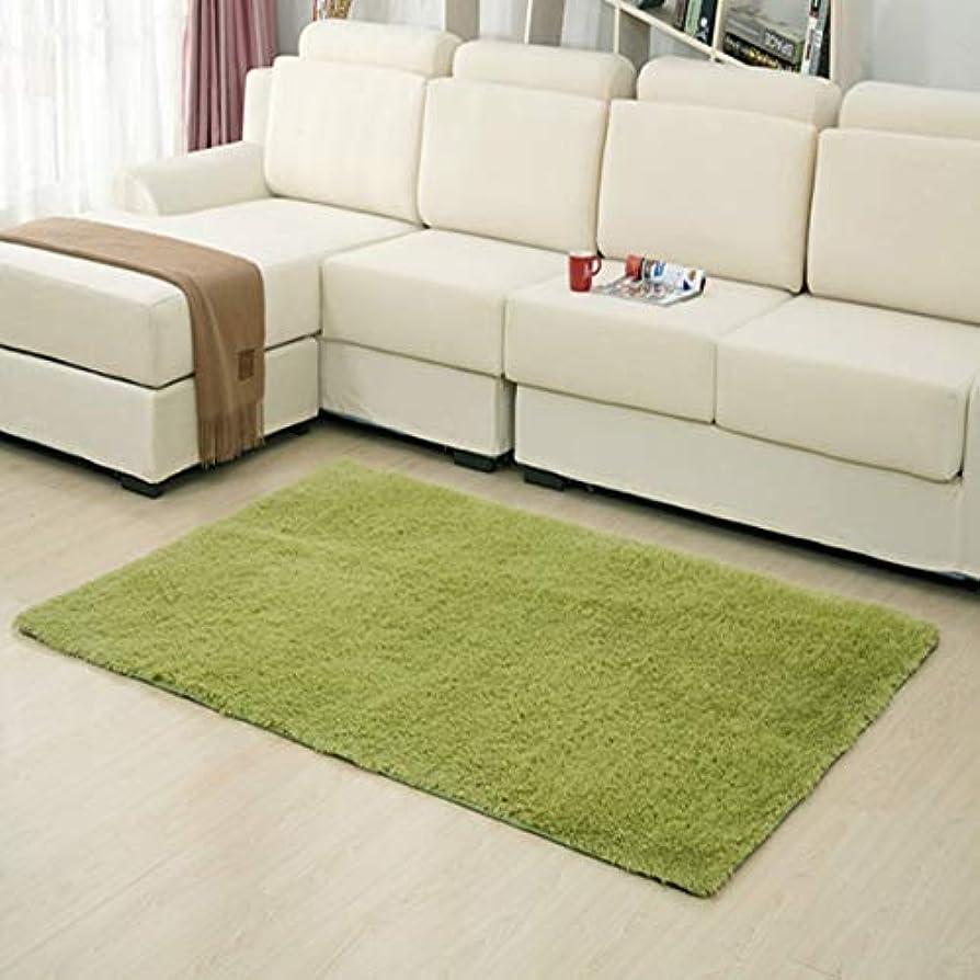 衝撃重要性イライラする超柔らかい厚い屋内モーデンエリア敷物パッド寝室のリビングルームの居間敷物家の装飾のための毛布足布-ガラスグリーン40 * 60 cm