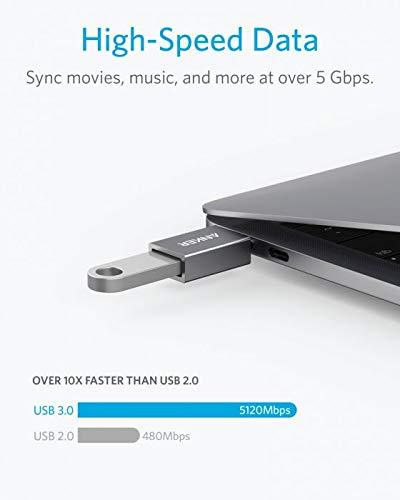 Anker USB-C & USB 3.0 変換アダプター【最大5Gbpsの...