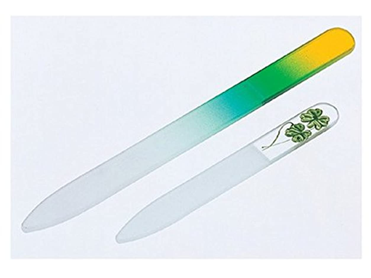 確立します値下げ包帯チェコ製ガラス製爪やすり大小セット ( 爪ヤスリ )