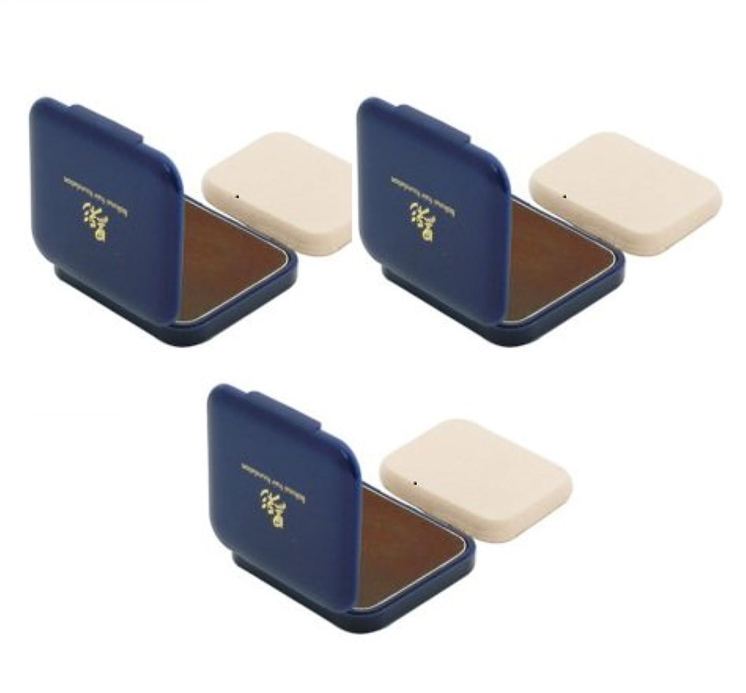 トーストモデレータ成り立つ【3個セット】アモロス 黒彩 ヘアファンデーション 詰替用 内容量13g (茶)
