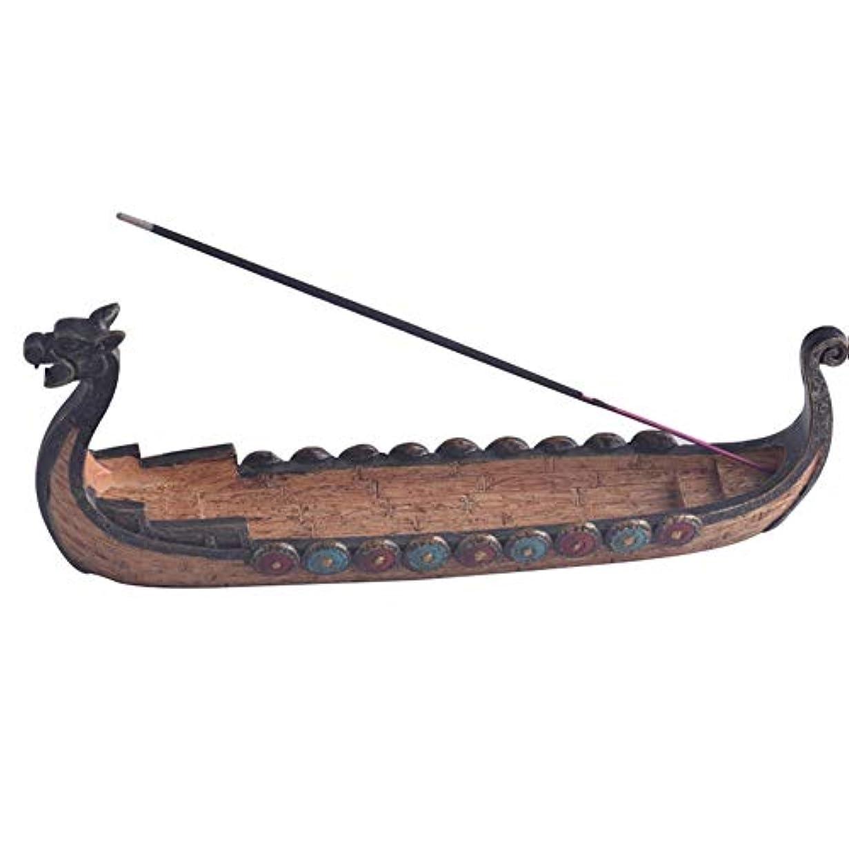 上げる位置づけるたくさんTenflyer スティック香中国の伝統的な家の装飾のためのドラゴンボート型香炉