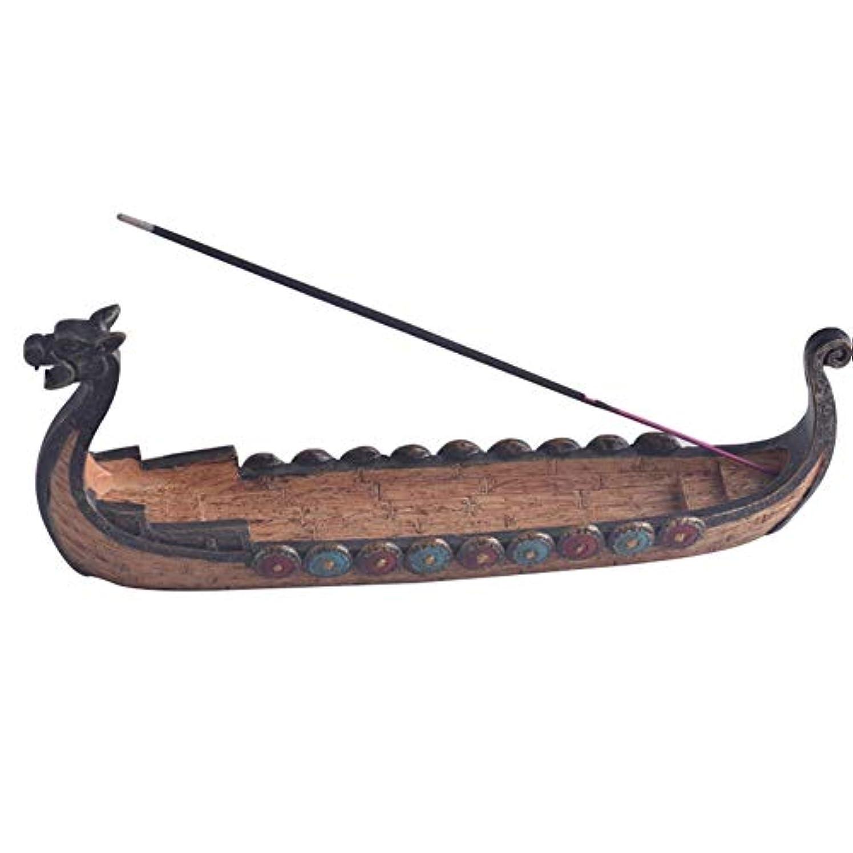 葉を集める避難するタクシーCoolTack スティック香中国の伝統的な家の装飾のためのドラゴンボート型香炉