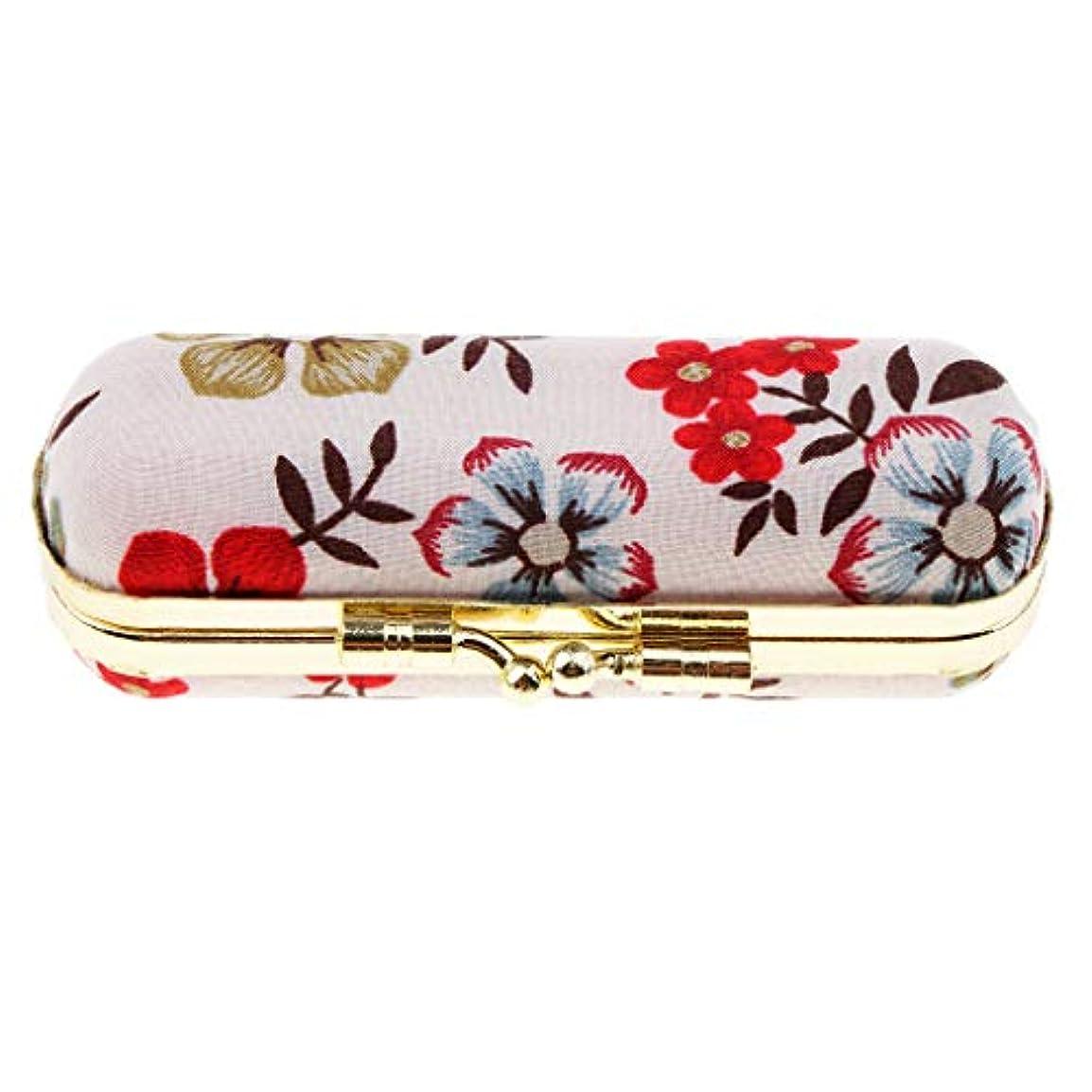 アリス内向き重々しいPerfeclan リップスティックケース デザイン 口紅 リップグロスケース 収納ボックス 鏡付き クリーム 7タイプ選べ - レトロE
