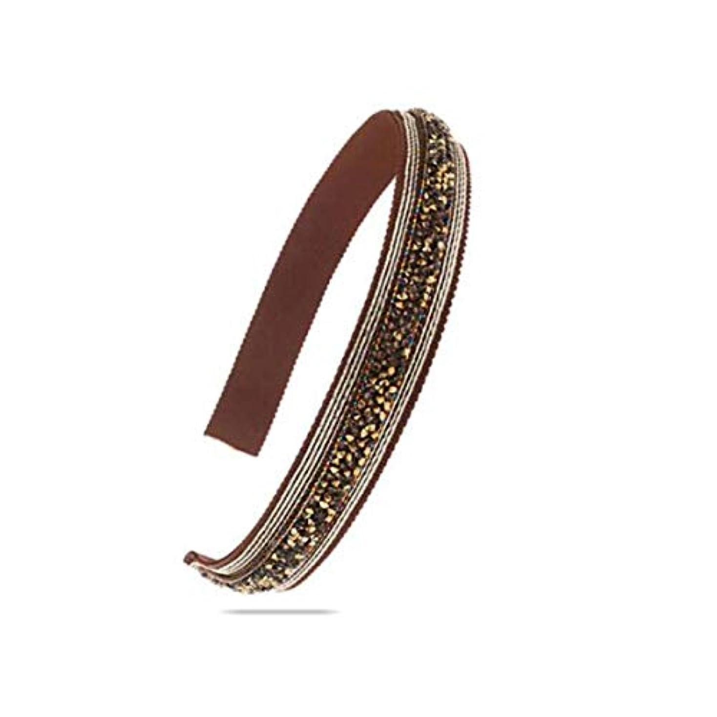 エイリアスデュアルキャプションヘアクリップ、ヘアピン、ヘアグリップ、ヘアグリップ、帽子ヘアアクセサリーヘッドバンドヘッドバンドヘアピンファブリックゴールドブラウン (Color : Gold brown)
