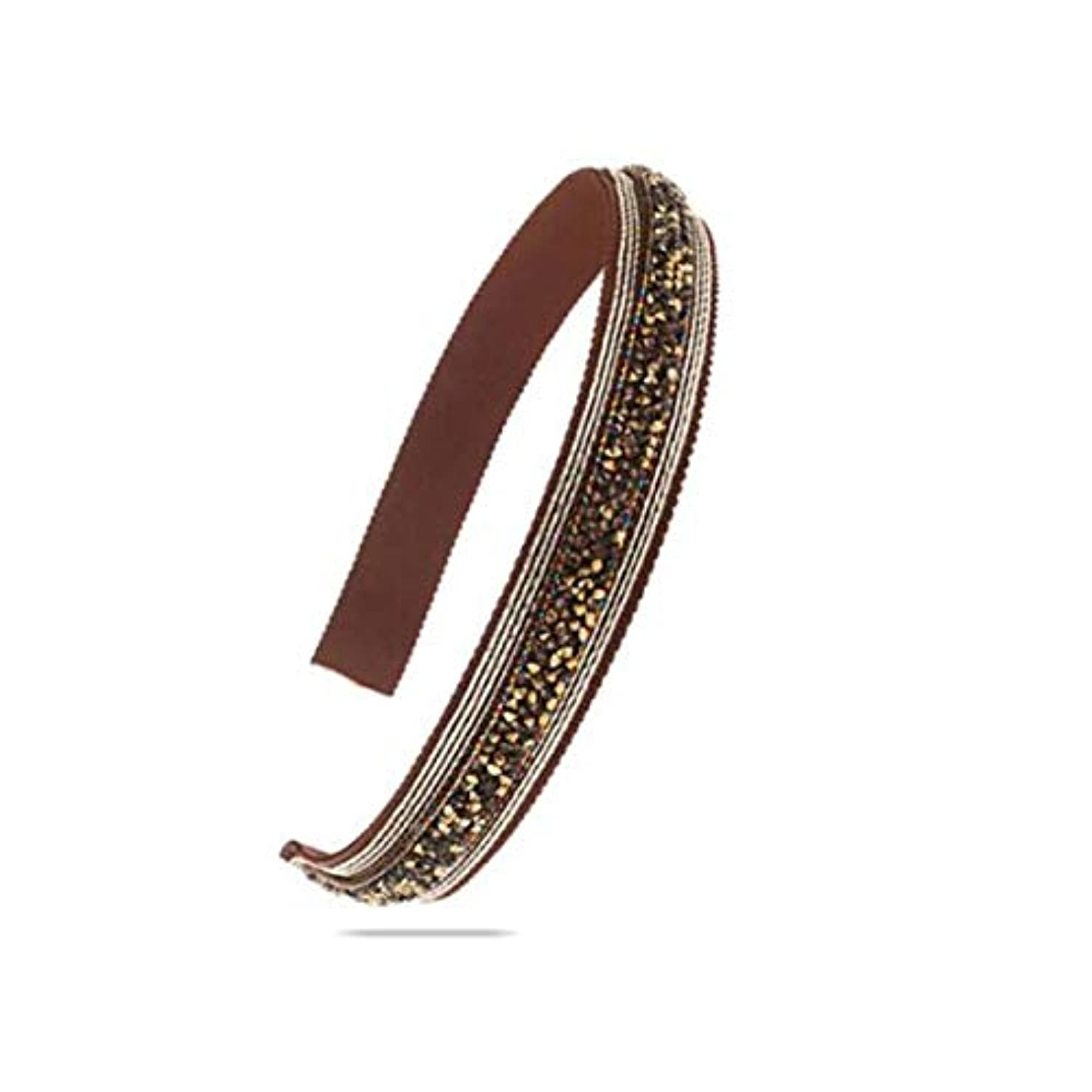 踏み台未満対称ヘアクリップ、ヘアピン、ヘアグリップ、ヘアグリップ、帽子ヘアアクセサリーヘッドバンドヘッドバンドヘアピンファブリックゴールドブラウン (Color : Gold brown)