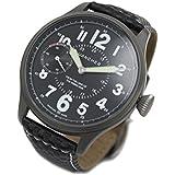(ワンチャー) WANCHER オフィサー 腕時計 機械式 手巻き 12時間表示 ブラック WAWTsubdial9- 7712