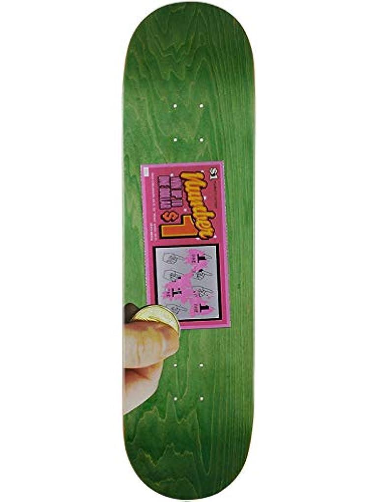 交換可能仮装素人Skate Mental Green Plunkett Scratcher 8.25インチ スケートボードデッキ (デフォルト、グリーン)