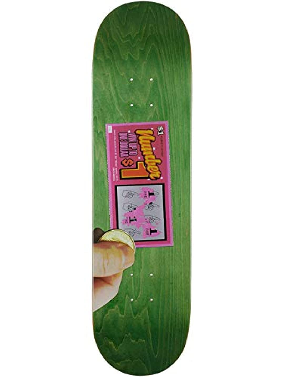読書をするあいさつ代表団Skate Mental Green Plunkett Scratcher 8.25インチ スケートボードデッキ (デフォルト、グリーン)