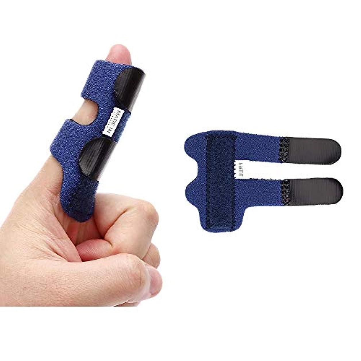 再集計モーションする指の添え木│指の負傷、骨折、関節炎、関節痛の軽減 (青)