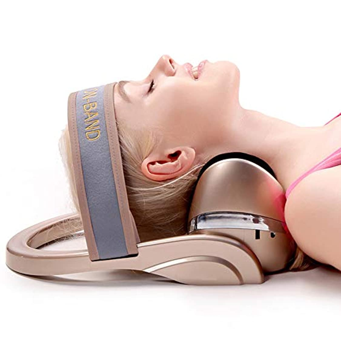 少しビルマ言語整形外科の救助の首およびサポート肩の上部の背骨の緩い苦痛のマッサージの牽引のための電気頚椎のマッサージの弛緩の枕