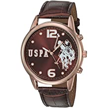 U.S. Polo Assn. Women's Quartz Watch with Patent Leather Strap, Brown, 24 (Model: USC50403)