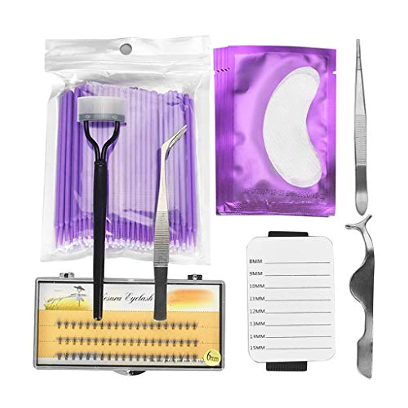 中級溶けたイル全5色 アイメイク ラッシュ延長 つけまつげ 精密ピンセット ツイーザー まつげパレットホルダー - 紫