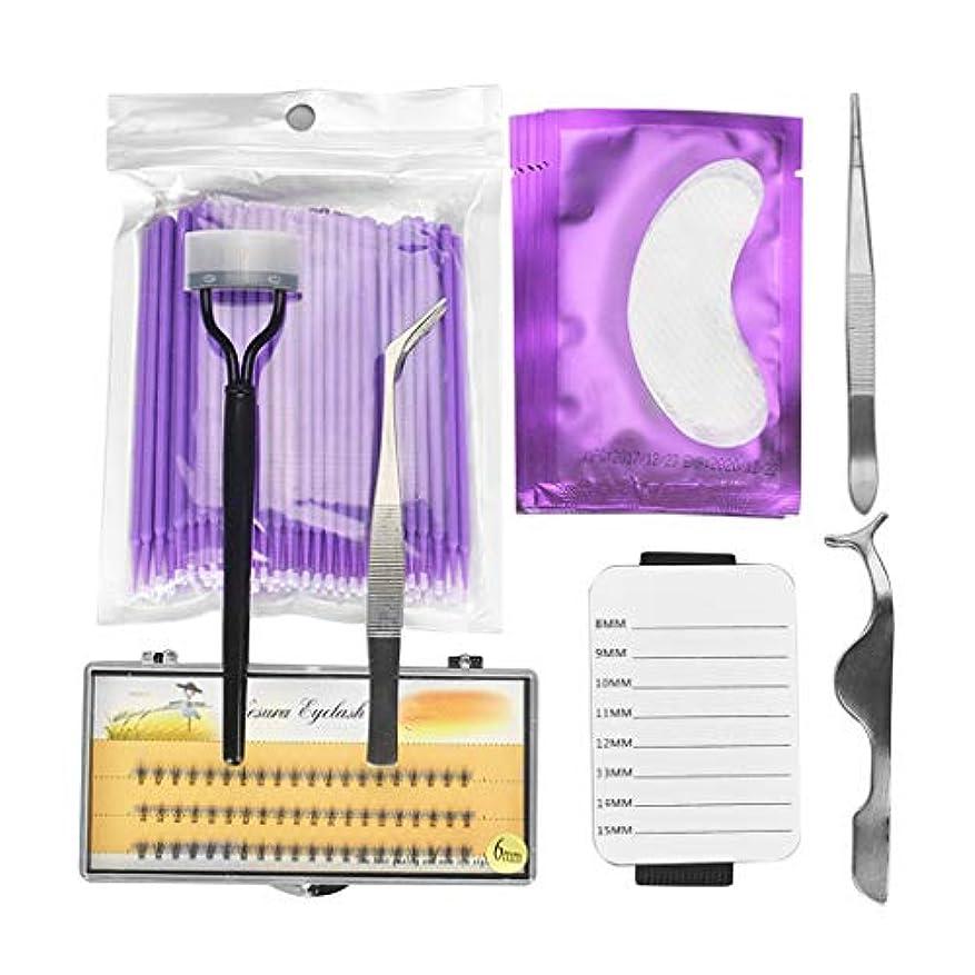 楕円形ピグマリオン目的Perfeclan 全5色 アイメイク ラッシュ延長 つけまつげ 精密ピンセット ツイーザー まつげパレットホルダー - 紫