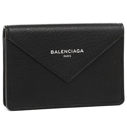 バレンシアガ カードケース BALENCIAGA 499201 DLQ0N 1000 PAPIER ZA THIN CARD レディース 名刺入れ 無地 NOIR 黒 [並行輸入品]