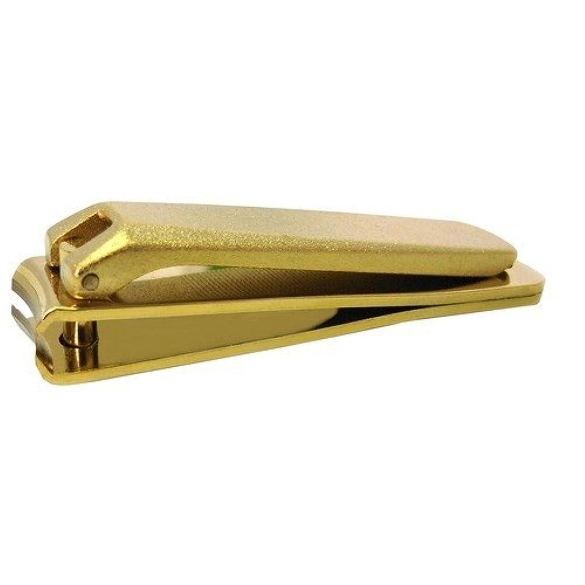 遠い極貧ペイントKD-031 関の刃物 ゴールド爪切 小 カバー無