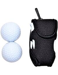 ゴルフボールケース World Bridge ゴルフポーチ ゴルフボールケース 2個収納 ゴルフボール 2個+ティー付き