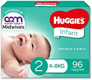 Huggies Infant Nappies Size 2 (4-8kg) 96 Count