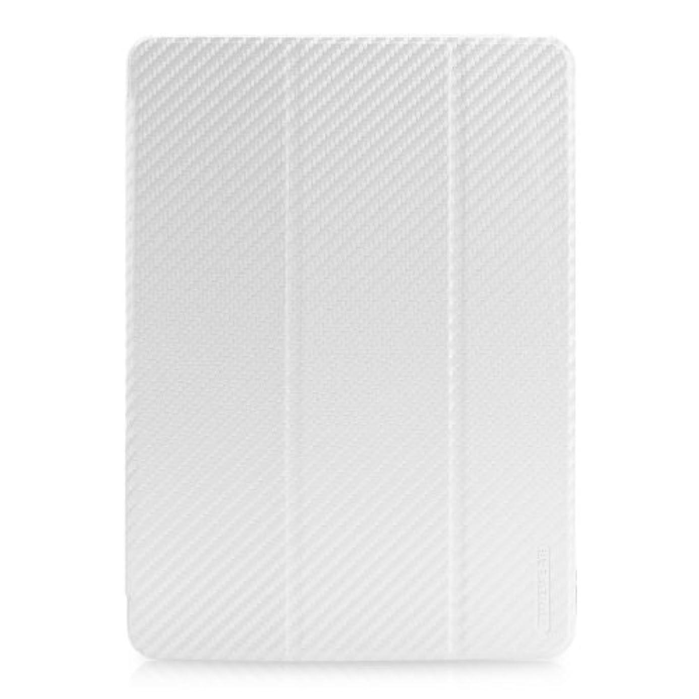 味付けなめらか冒険【日本正規代理店品】TUNEWEAR CarbonLook SHELL with Front cover for iPad Air カーボンホワイト TUN-PD-000122