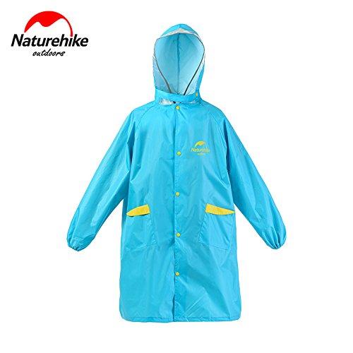 子供用 レインコート キッズ レインパーカー 雨合羽 雨具 自転車 通学 レインウェア 120-150cm NH16D001-M(Blue)