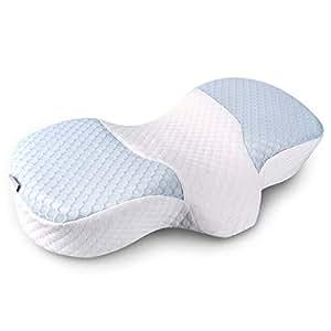 枕 安眠枕快眠グッズ 低反発まくら 健康枕 肩こり対策 いびき改善 頚椎サポート横向き寝 呼吸が楽 熟睡 通気性抜群 洗える 抗菌 防臭